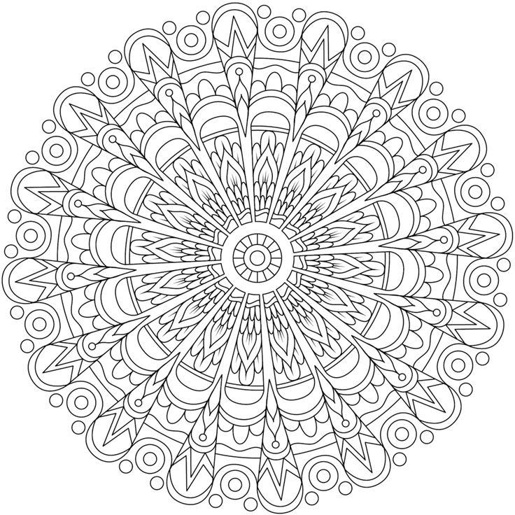 Rebellious Heart Mandala Coloring Page By Varda K