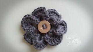 flor lanas y ovillos - YouTube