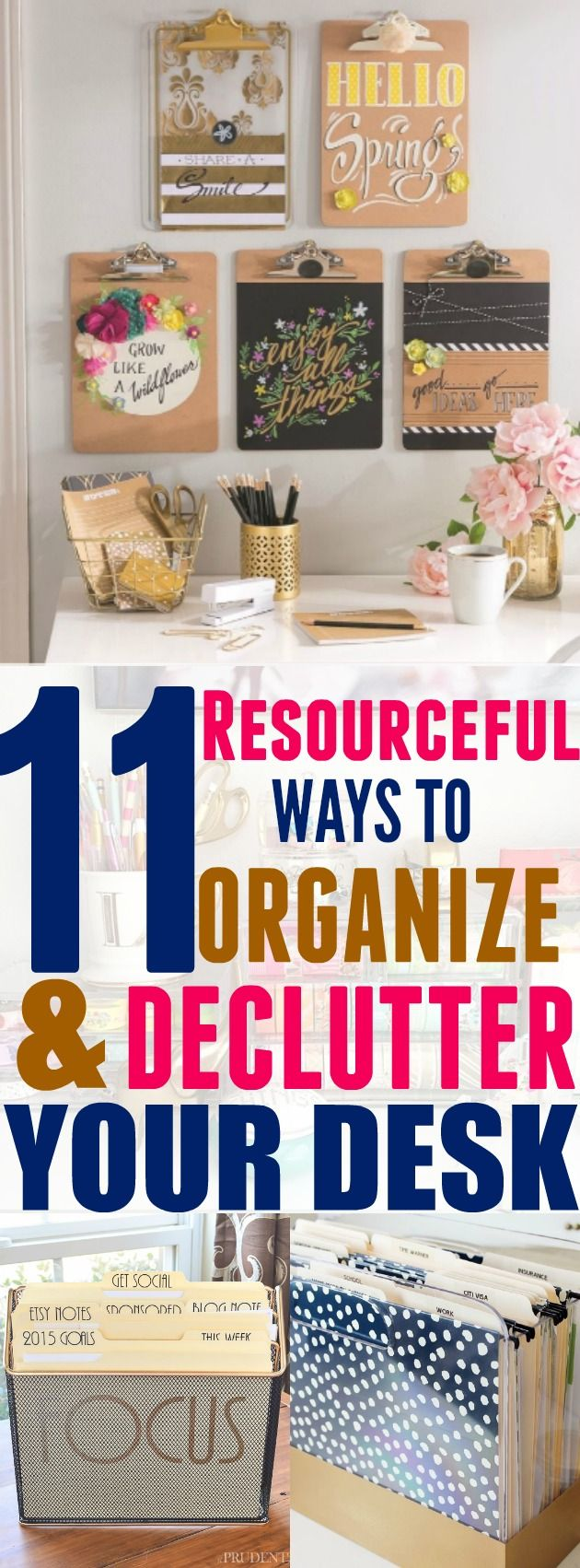 25 best ideas about desk organization tips on pinterest for Ways to get rid of clutter