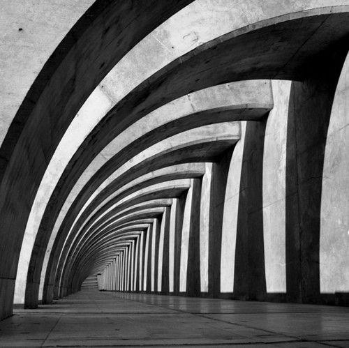 arches black and white architecture