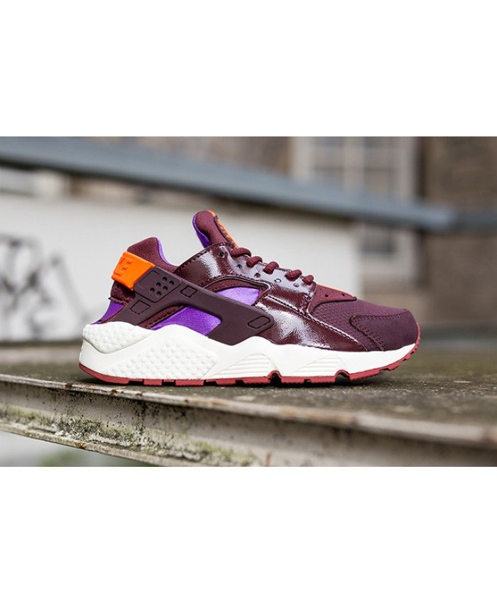Nike Air Huarache Burgundy Leather Purple Orange Trainer The quality is  very light, the design
