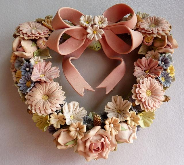 Miniature Dough Flower Wreath 5 Quot By Toby Garden Via