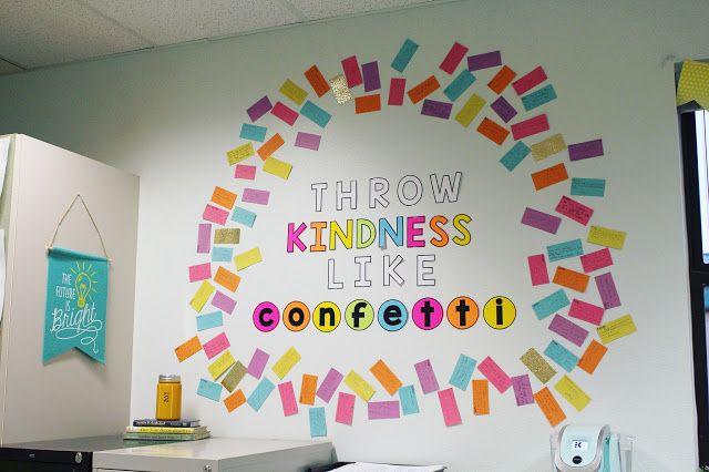 My Teacher Style: THROW KINDNESS Throw kindness like confetti community building activity
