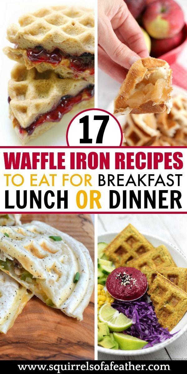 17 Surprising Waffle Iron Recipes Waffle Iron Recipes Food Food Recipes