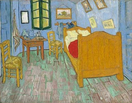 Vincent Van Gogh painted 3 versions of his bedroom at Arles, and if you are able to be in Chicago, IL, U.S.A. from January to May you can see ALL 3 together at one time.