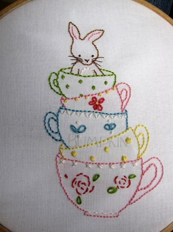 tea cups by lesa