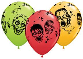 10 latex zombie party balloons birthday party supplies - Zombie Party Supplies