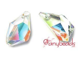 Crystal AB Swarovski Crystal Elements 6015 Polygon 13mm  #CrystalAB #Swarovski #SwarovskiCrystal #Crystalbeads #beads #5328 #5301 #bicones #6015