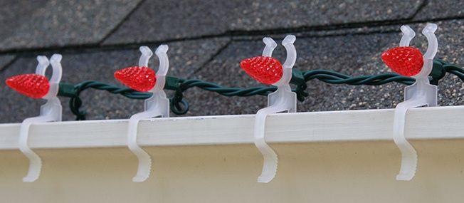 Use Christmas Light Clips to Make Holiday Light Installation Easier!