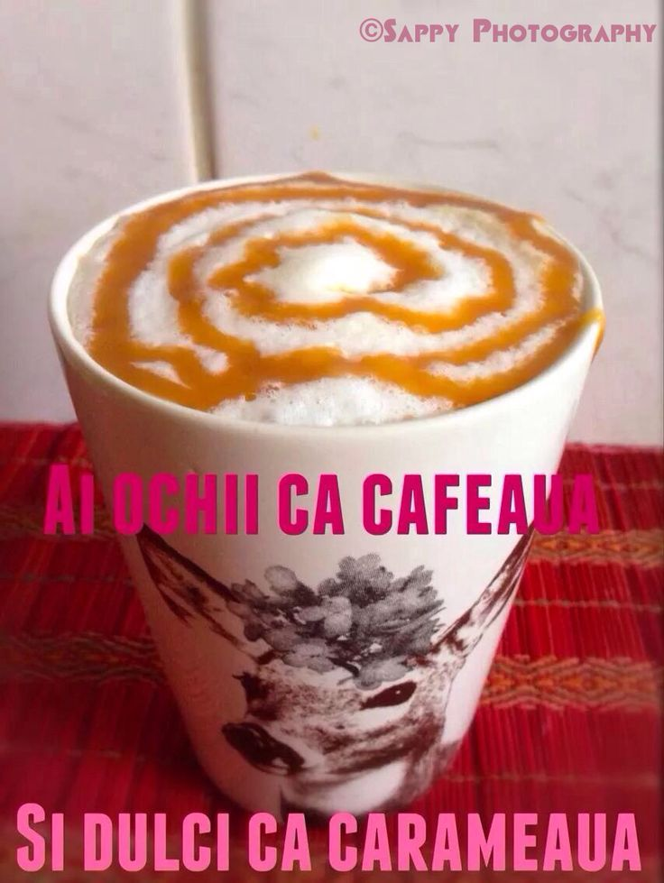 Ai ochii ca cafeaua si dulci ca carameaua #coffee #pink #morning