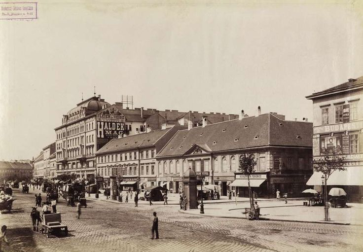 Károly körút a Király utca felé nézve, jobbra a Dob utca torkolata. A felvétel 1895 körül készült. A kép forrását kérjük így adja meg: Fortepan / Budapest Főváros Levéltára. Levéltári jelzet: HU.BFL.XV.19.d.1.07.067