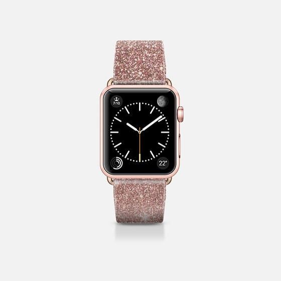 Girly Glam Faux Pink Rose Gold Foil and Glitter Mesh - Casetify Band