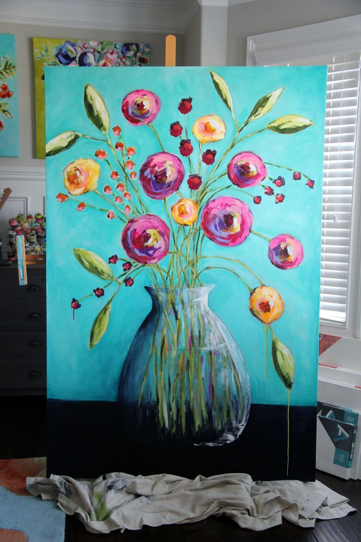 1000 ideas about easy acrylic paintings on pinterest for Acrylic canvas ideas