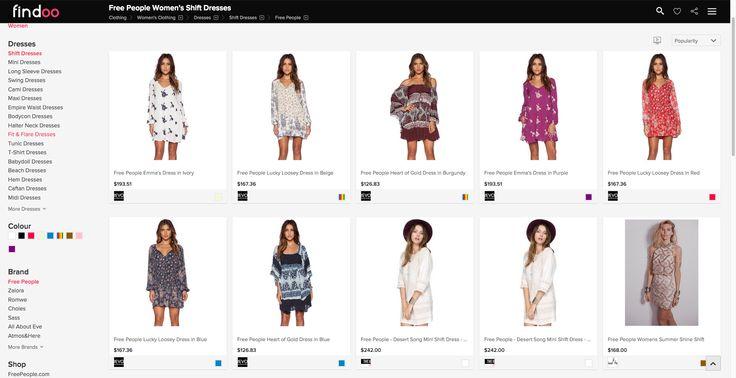 Shift Dresses Dresses for trendy women on Findoo.
