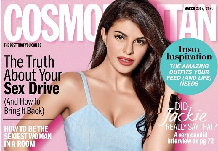 Jacqueline Fernandez is looking hot again on Cosmopolitan Magazine March 2016