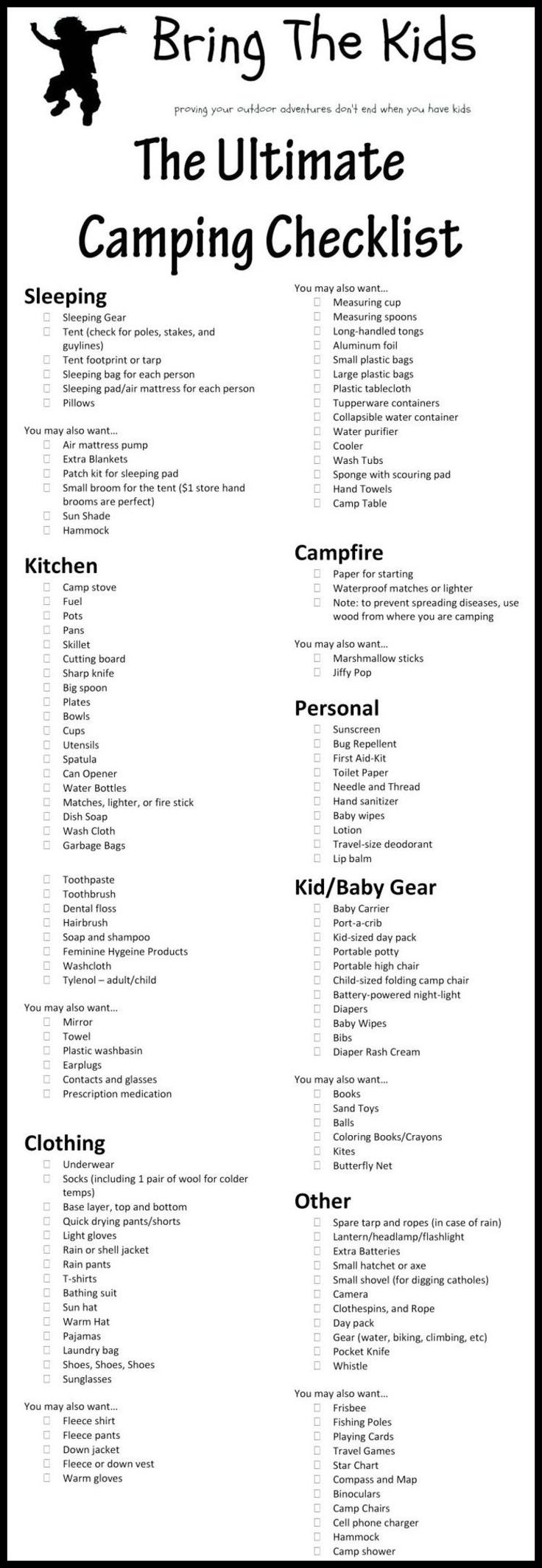 Camping Checklist - The Perfect Camping Checklist ** More info could be found at the image url. #FunnyCampingPictures