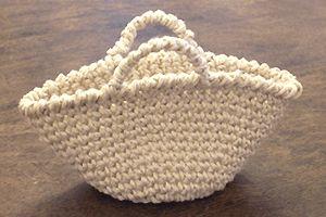 こま編みのバッグ:完成イメージ