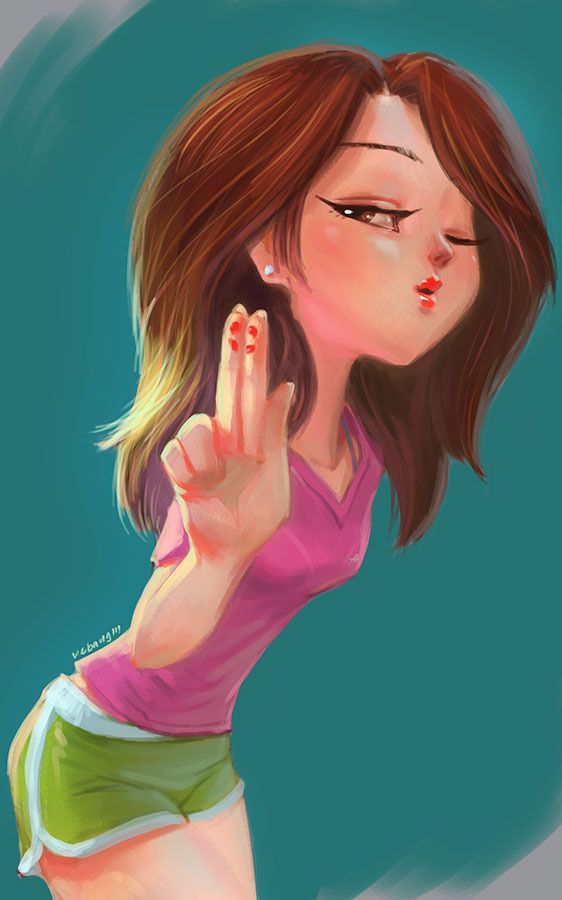 Kisses for you Picture (2d, cartoon, girl, woman ...