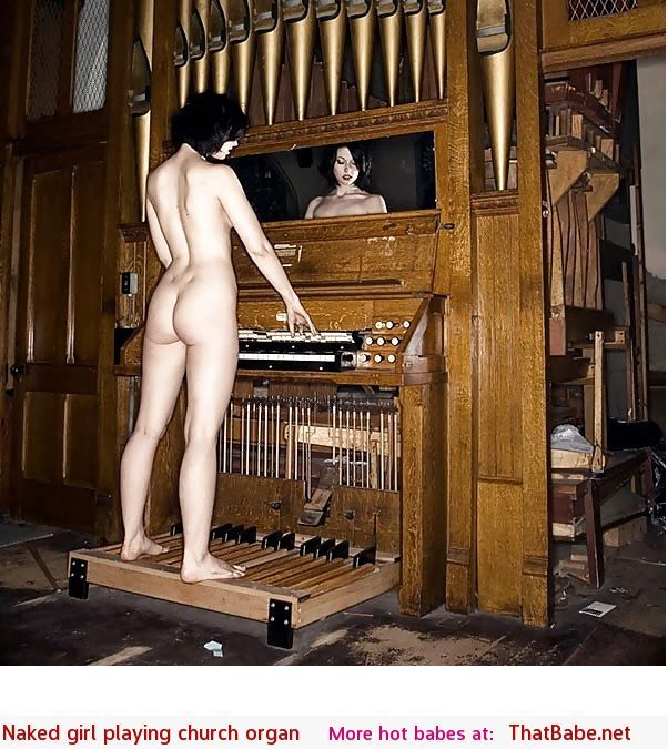 girl nude in church
