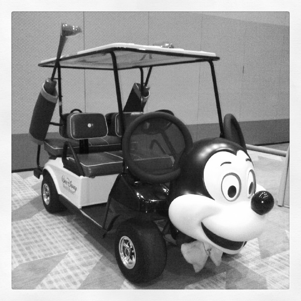 Only at Walt Disney World will you find a Mickey Mouse golf cart #DisneyBridalShow
