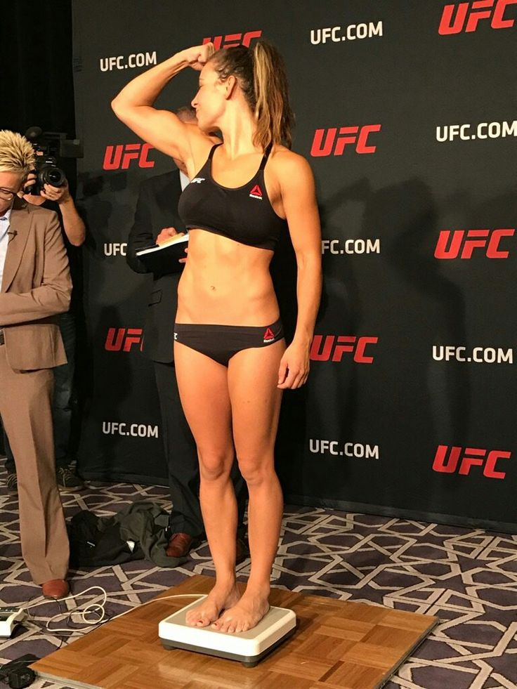 Miesha Tate full body bikini shot at official early weigh in for UFC 205!