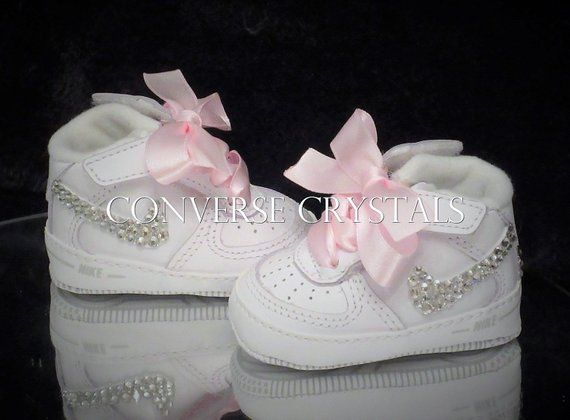 Soft sole Air Force 1 baby crib shoes embellished with superior ...
