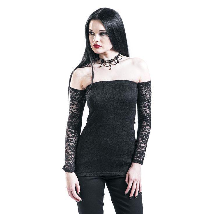 Gothicana by EMP  Langarmshirt  »Dark Sweetheart« | Jetzt bei EMP kaufen | Mehr Gothic  Langarmshirts  online verfügbar ✓ Unschlagbar günstig!