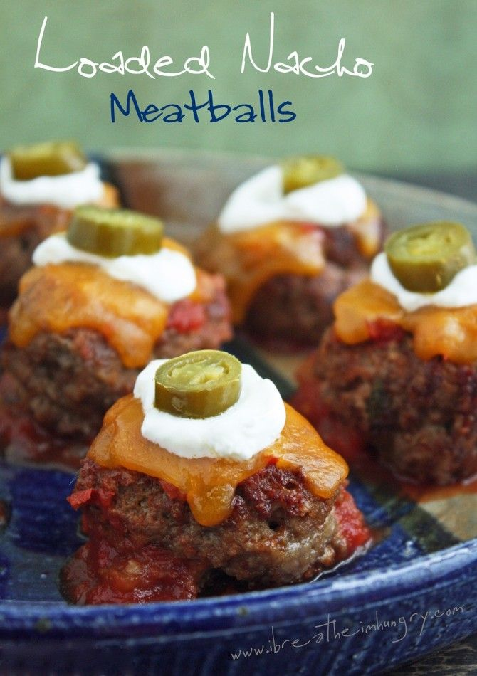 Loaded Nacho MeatballsHealthy Alternative, Sour Cream, Low Carb, Football Food, Meatballs Recipe, Loaded Nachos, Gluten Free, Keto Diet, Nachos Meatballs