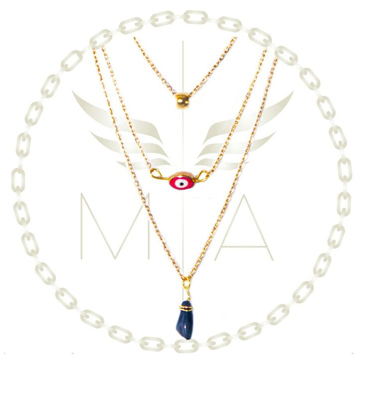 Collar ojo rojo #accesorios #collar #bogota #fashion #moda #tendencia #chain #brillo #estilo #necklace #eye #gold