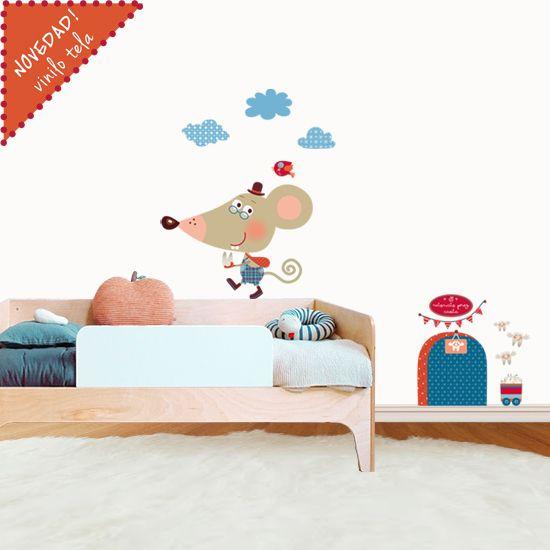 Vinilos infantiles de tela ratoncito perez infantil - Vinilos infantiles tela ...