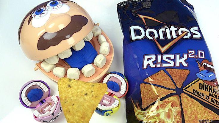 Play Doh Dişçi aç adam Doritos Risk 2.0 bitirdi ağladı mavi dil oldu. Aç...