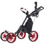 Caddytek One-click Folding 4 Wheel Golf Push Cart