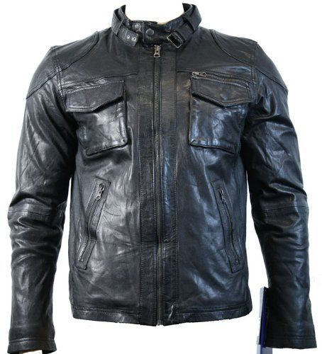 Mens Retro Real Leather Jacket Vintage Crinkle Look Black Biker Aviatrix, http://www.amazon.co.uk/dp/B006AAGT3Q/ref=cm_sw_r_pi_dp_k6Fqsb1XEM8B2
