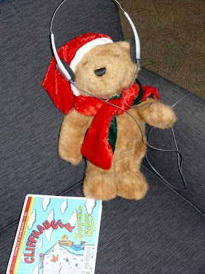 Christmas Adventures of Bing the Library Bear #4. Bing listens to an audio book.