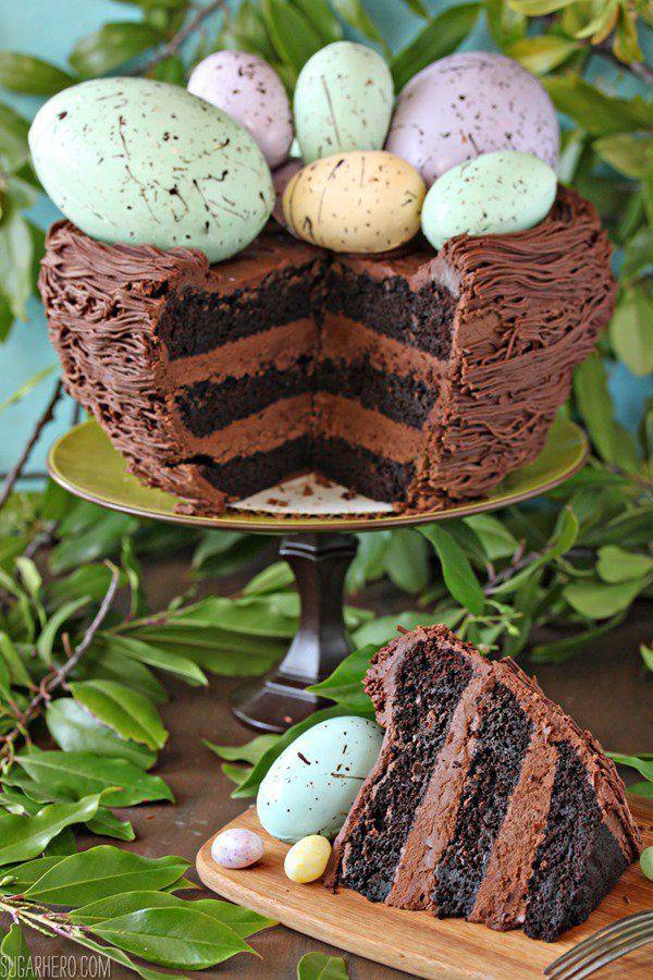 Easter Nest Cake | From SugarHero.com