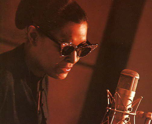 Billie Holiday during her last recording session on March 3, 1959