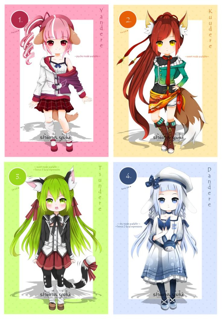Adopts Batch Dere Types Kemonomimi [CLOSED] by Shiina
