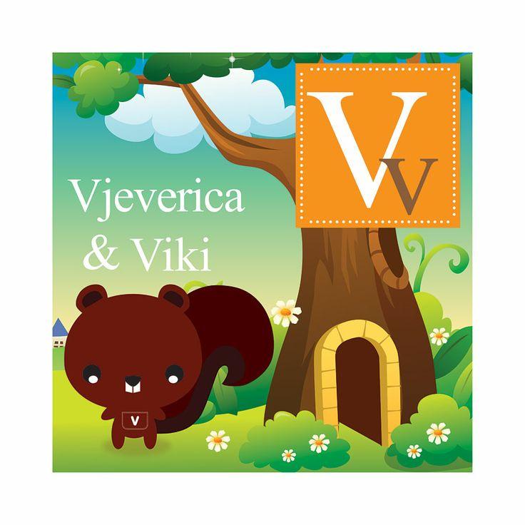 #DJ09, V stands for Vjeverica, 50 x 50 cm