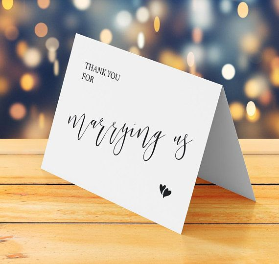 Thank You Wedding Card Printable Thank You For Marrying Us