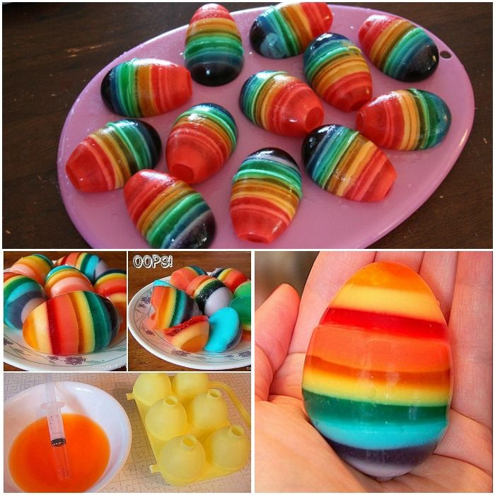 These Rainbow Jello eggs make a great colorful addition to your Easter table. If you are looking for something different for your Easter, make these delici