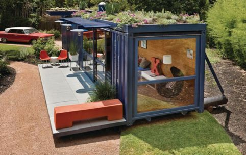 Shipping Container Homes -- I bet this would be a great pool house or even get a couple of them and make a guest house.