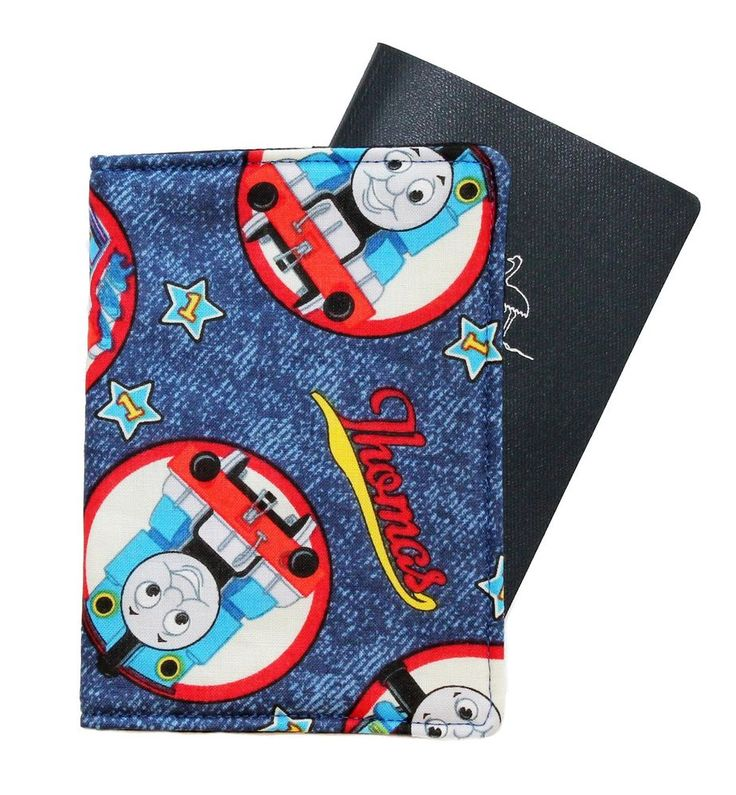 CHILD'S PASSPORT COVER/FOLDER/WALLET - THOMAS TANK ENG.  by Graggie Australia*GA #GraggieAustralia #PassportCoverFolderWalletHolds12