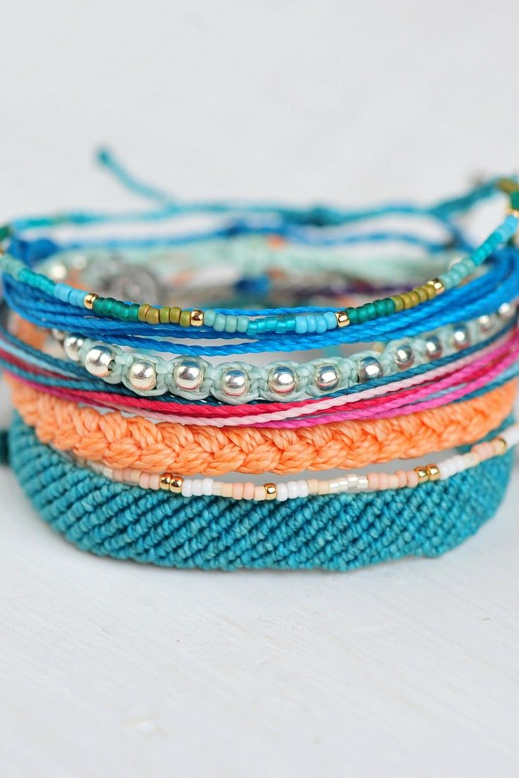 Pura Vida Bracelets are handcrafted in Costa Rica, with proceeds going back to the artisans.