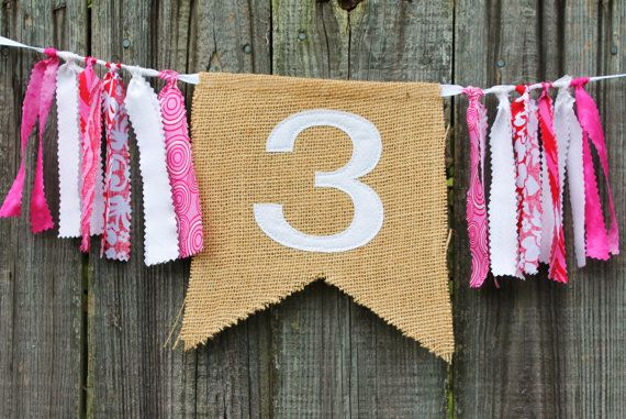 DIY instead - Custom Burlap Banner Birthday Bunting Banner You by themoderndaisy, $12.00