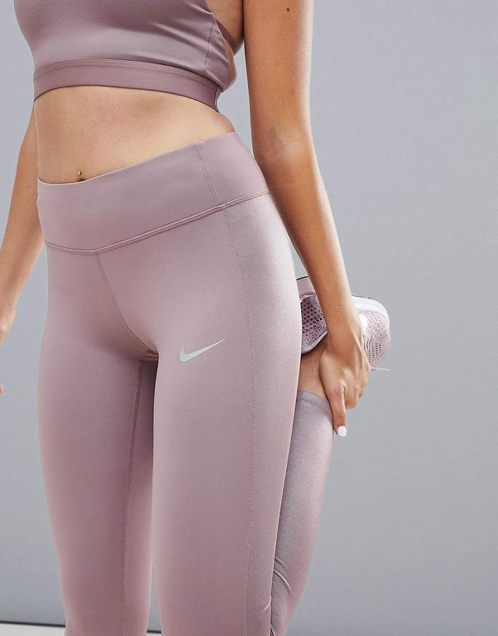 separation shoes 929a5 b62f0 Nike Running Power Leggings In Smokey Mauve
