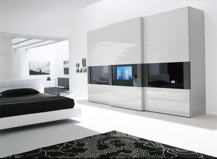 Beautiful Wardrobe Designs 20 beautiful examples of bedrooms with attached wardrobes Bedroom With Black And White Decoration Design Feat Contemporary Wardrobe Closet Also Floating Bed Amazing Design