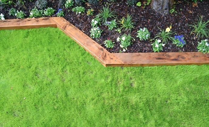 Wood Landscape Edging Google Search Wooden Garden Borders