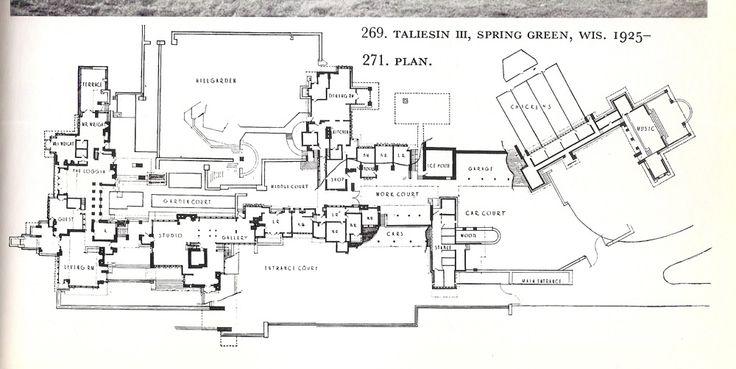 Floor plan of taliesin google search fl wright for Frank lloyd wright floor plans