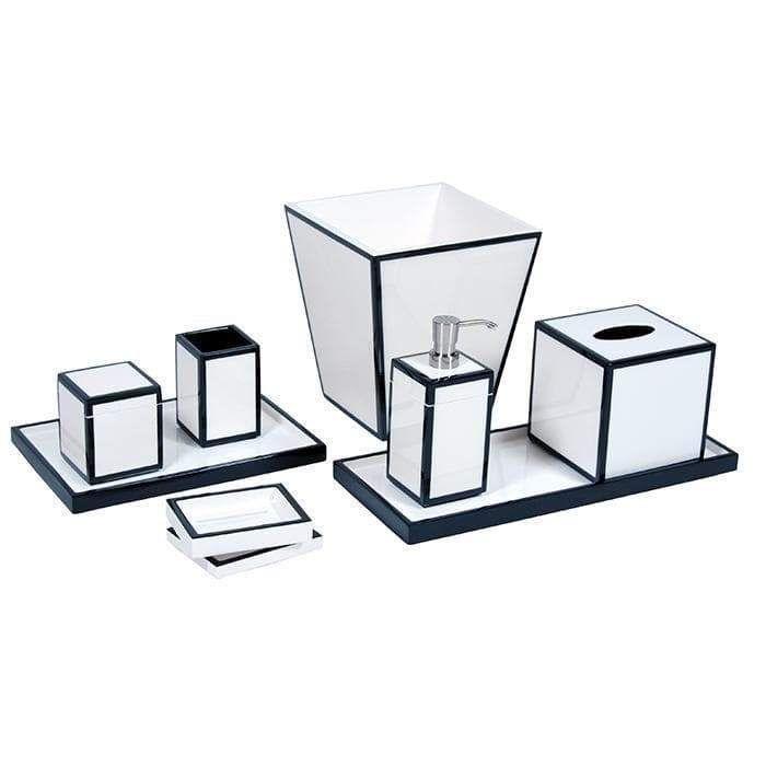 White Black Lacquer Bathroom Accessories Bathroom Accessories Bath Accessories Home Accessories