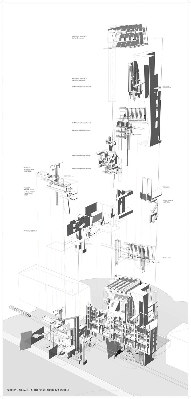 216 best images about exploded axonometric -architectural drawing ... - Meuble Urban Design